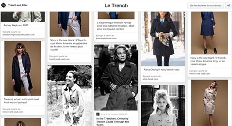 Découvrez notre board Pinterest sur les looks les plus iconiques ou pointus du Trench!