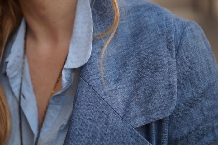 Manteau lin et coton