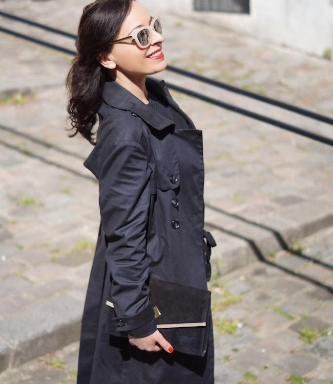 lookbook trench noir femme
