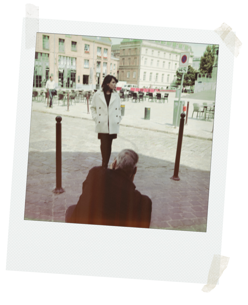 shooting Lille trench and coat manteaux