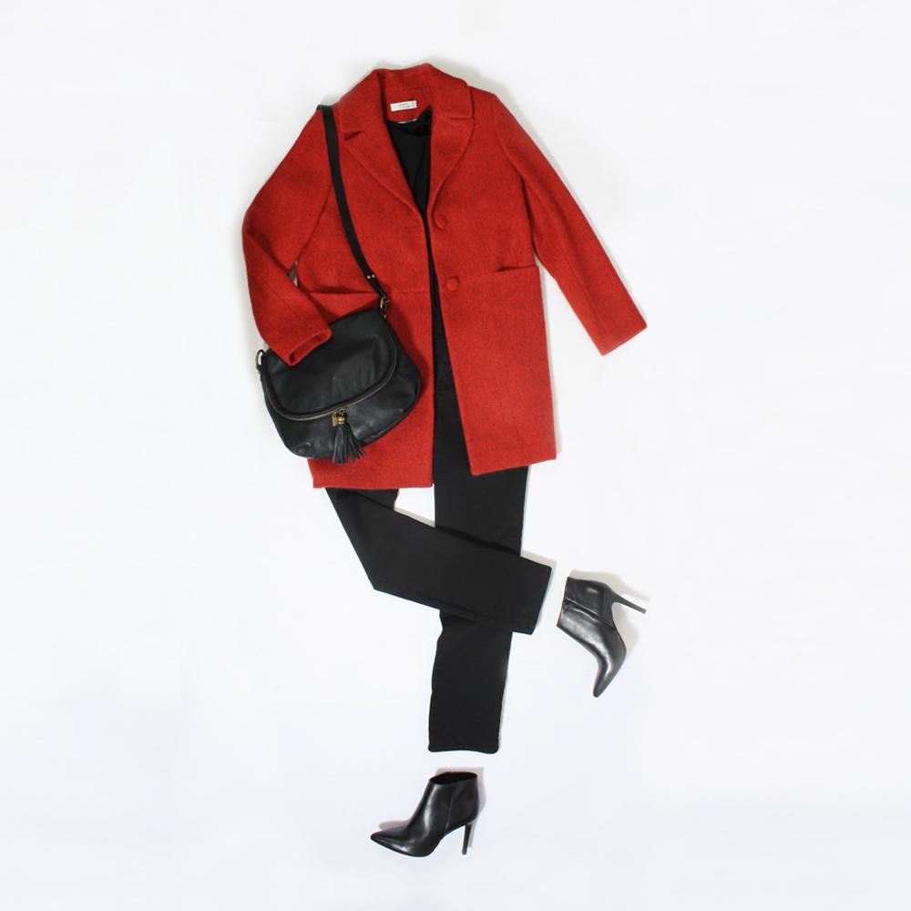 Manteau hiver rouge