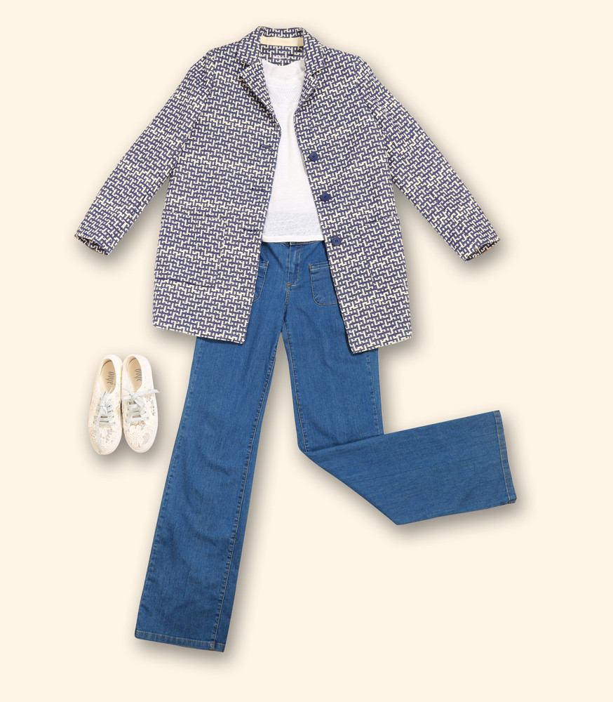 mise-en-scene-manteau-imprime-bleu