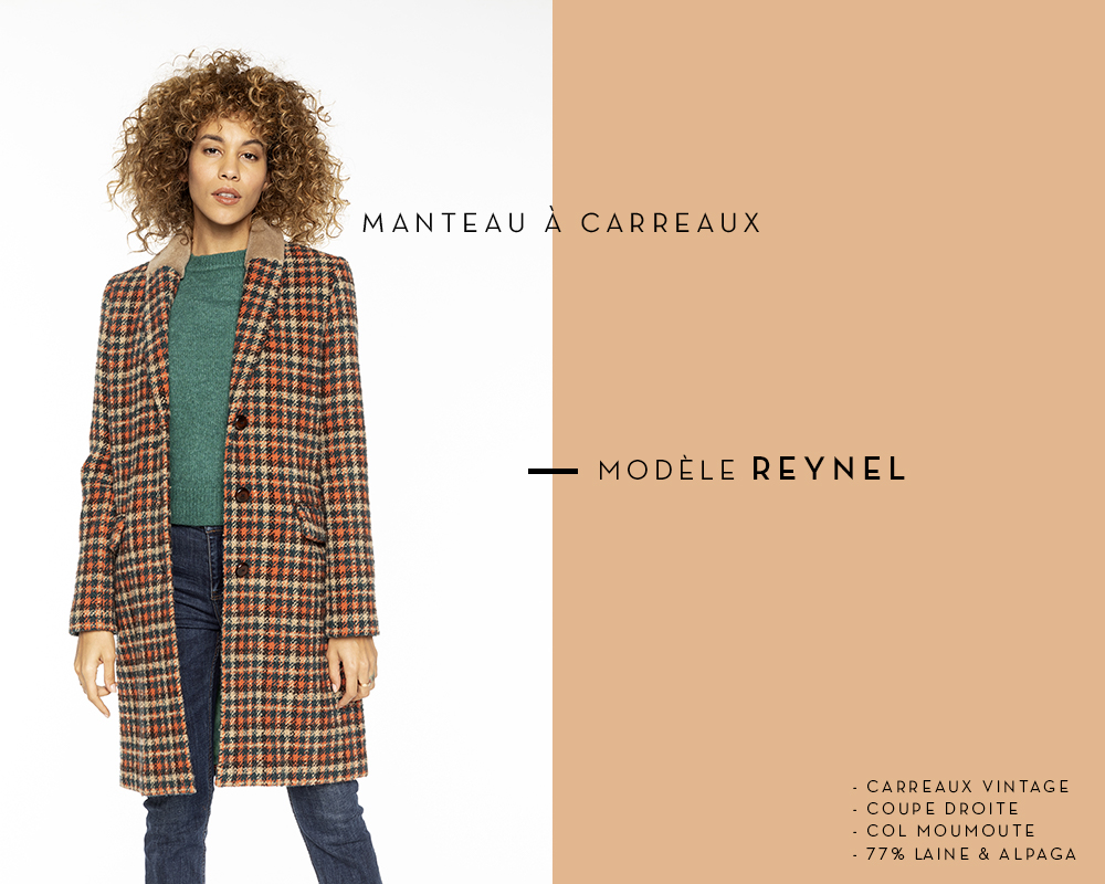 manteau à carreaux