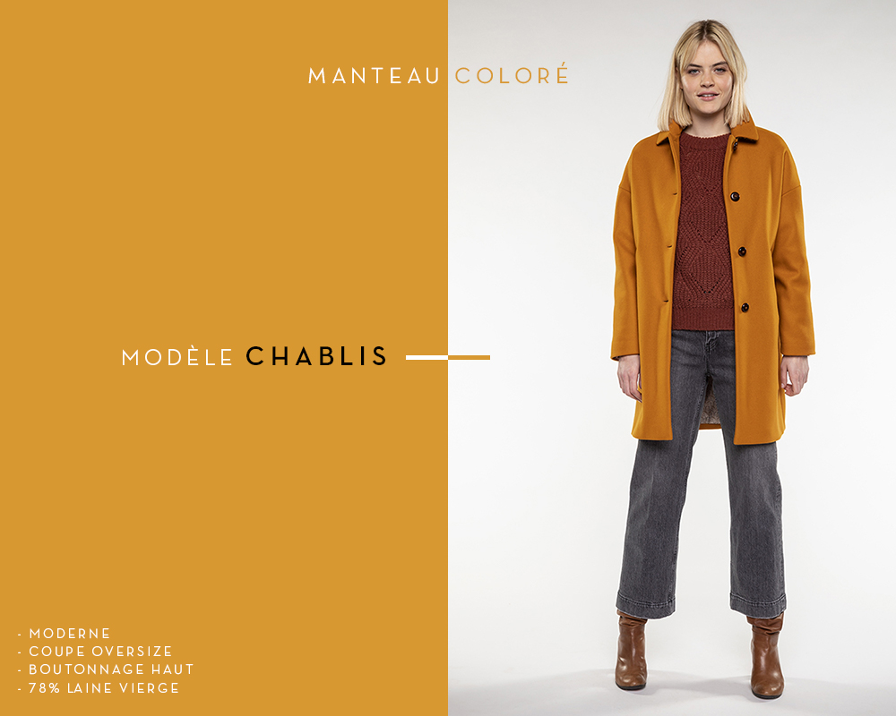 manteau coloré