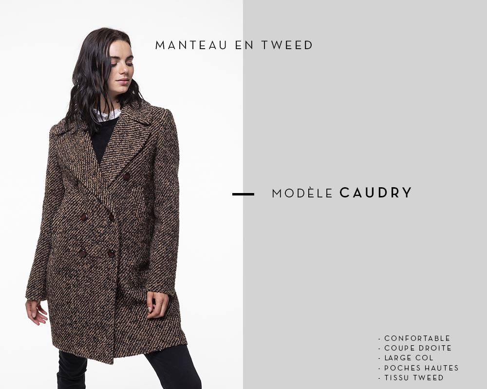 manteau en tweed